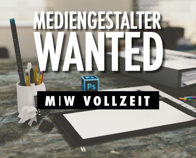 JOBS: MEDIENGESTALTER (m/w) – Vollzeit